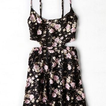 AEO Women's Don't Ask Why Fit & Flare Floral Dress