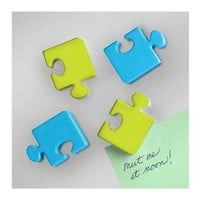 Refrigerator Magnets - Puzzle Pieces (Set of 4)