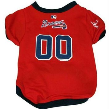 DCCKIV4 Atlanta Braves Dog Jersey