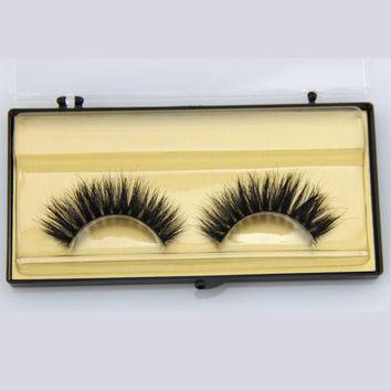 1 Pair Beauty Hand Made  Thick Curly Horse Hair False Eyelashes Fake Eye Lashes Natural Long Mink Makeup Extension Tools MT020