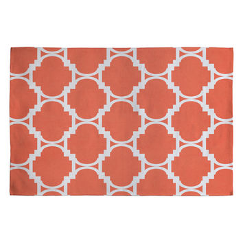 Rebecca Allen Pillow Talk Coral Woven Rug