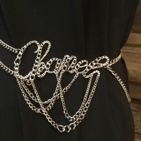 "Chanel chain belt/necklace-The Chain spells the word ""Chanel""-sz-18"" to 44""."