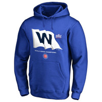 Men's Chicago Cubs Royal 2016 World Series Champions Win Flag Pullover Hoodie