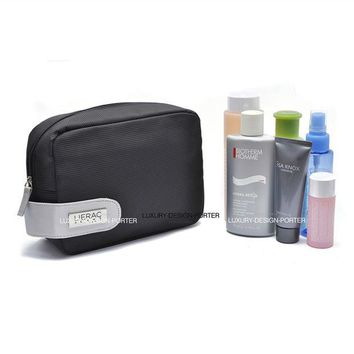 DCCKJG2 Designer Black Business Men Toiletry Bag Travel Organizer Cosmetic Bag