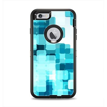 The Vibrant Blue HD Blocks Apple iPhone 6 Plus Otterbox Defender Case Skin Set