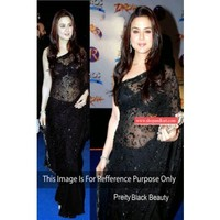Prity zinta in black saree Women Clothings sarees Bollywood Collaction 239 | Shop 'N kart