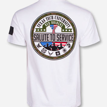 Texas Tech Salute To Service White T-Shirt