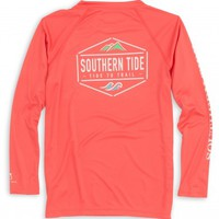 KIDS CREST TO CAP LONG SLEEVE PERFORMANCE T-SHIRTStyle: 2202