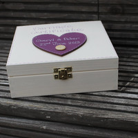 Wooden Personalised Wedding Box for Marriage Certificate and other keepsakes