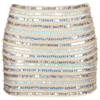 Pearl and Sequin Mini Skirt - Skirts - Clothing - Topshop USA