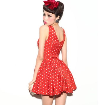 Retro Polka Dot Tea Dress