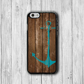 BLUE Anchor Brown Wooden iPhone Cases, Beautiful Freedom iPhone 6, iPhone 5S Cover Accessories Pocket Cell Phone iPhone 4S, iPhone 6 Plus