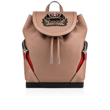 Explorafunk Backpack Taupe Calfskin - Handbags - Christian Louboutin