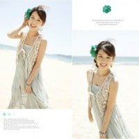 Corean Laconic and Mix-Matched Style Knitting Flower Pattern Tippet For Female China Wholesale - Sammydress.com