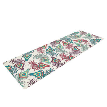 "Pom Graphic Design ""Peacock Feathers"" Multicolor Pattern Yoga Mat"