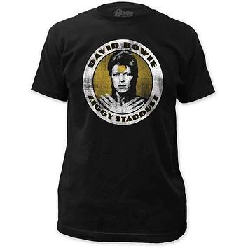 DAVID BOWIE ZIGGY STARDUST FITTED JERSEY TEE