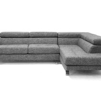 Adelaide Gray Twill Sectional Sofa