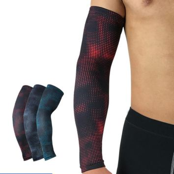 Printed Dot Men Cycling Sun Protection Cuff Cover Running Bicycle UV Protective Arm Sleeve Bike Sport Arm Warmers Sleeves