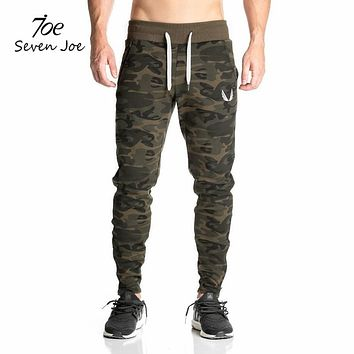 Seven Joe New sweatpants Men's gasp workout bodybuilding clothing casual camouflage sweatpants joggers pants skinny trousers hot