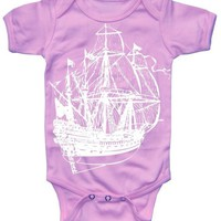 Baby Girl Bodysuit PIRATE SHIP Onesuit by happyfamily on Etsy