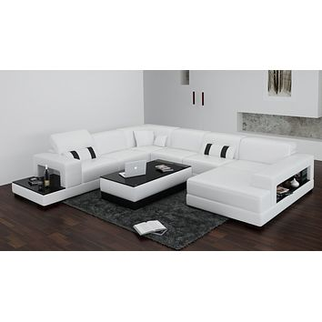 Luxury Modern Rimini Antique space saving living room L shape sofa set