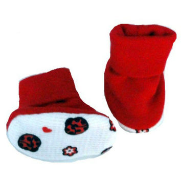 Baby Girls' Ladybugs & Hearts Booties