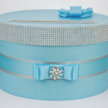 Card box / Wedding Box / Wedding money box - Tiffany blue