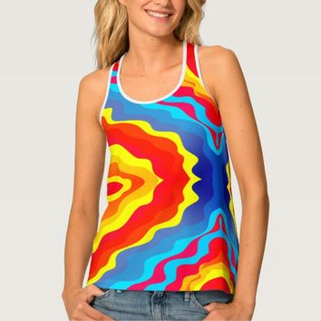 Colorful Abstract Patterns Tank Top