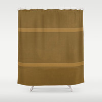 Raw Umber Leaves Shower Curtain by deluxephotos