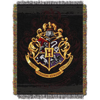 Harry Potter Hogwarts Decor Triple Woven Jacquard Throw (48x60)