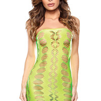 Neon Green Cut-Out Seamless Chemise