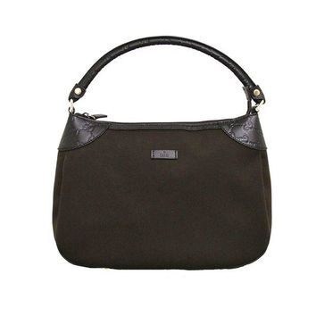 DCCKUG3 Gucci Brown Canvas Hobo Shoulder Bag Guccissima Leather Handbag 279154