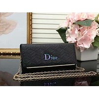 DIOR Women Fashion Shopping Leather Shoulder Bag Satchel Crossbody Black I-LLBPFSH