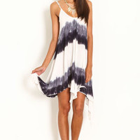 Dip Dye Gauze Scoopback Dress - LoveCulture