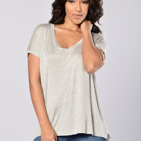 Day in Day Out Tee - Heather Grey