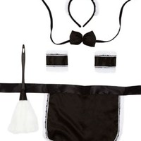French Maid Costume Accessory Set by Charlotte Russe - Black Combo