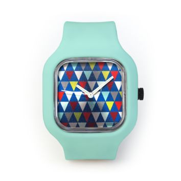 Cool Sweater Watch in a Seafoam Green Strap