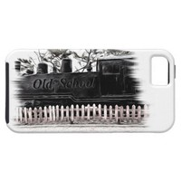 old school train iPhone SE/5/5S case