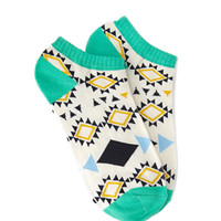 Geo-Patterned Ankle Socks