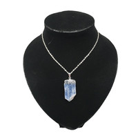 """63 cts Kyanite Blade Silver Plated Pendant, Free Silver Plated 18"""" Chain, Bp539"""