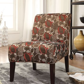 Aberly Accent Chair, Stylish Fabric Print