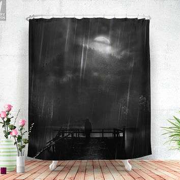 A promise is a promise Shower curtain