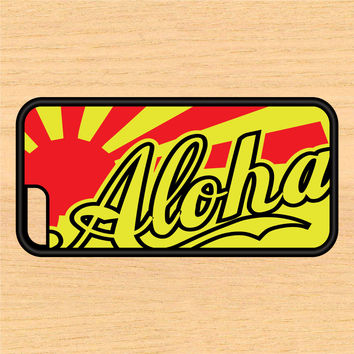 Aloha Rising Sun Design Art iPhone 4 / 4s / 5 / 5s / 5c /6 / 6s /6+ Apple Samsung Galaxy S3 / S4 / S5 / S6