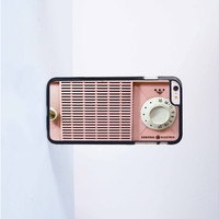 Retro Cute Pink Radio Plastic Case Cover for Apple iPhone 6 Plus 4 4s 5 5s 5c 6