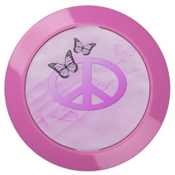 Pink Peace USB Charging Station