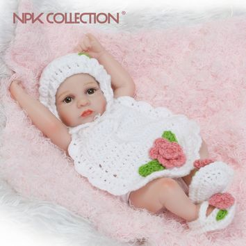2017 new 	premie newborn cute small 12inch soft silicone vinyl real soft gentle reborn baby doll Christmas gift