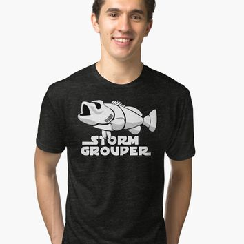 'storm grouper' Tri-blend T-Shirt by SleeplessLady