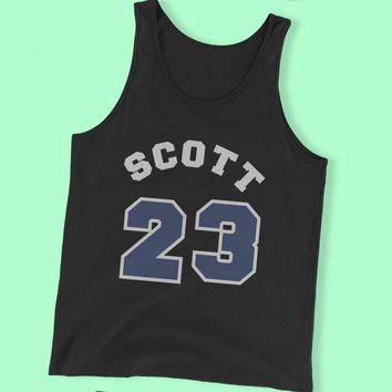 Nathan Scott 23 One Tree Hill Tv Show Ravens Basketball High School Player Men'S Tank Top