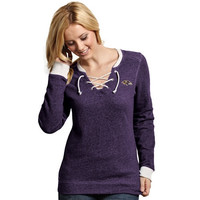 Baltimore Ravens Womens Rally Lace-Up Sweater - Purple