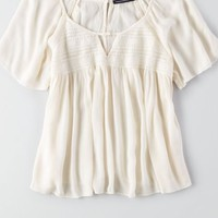 AEO Women's Smocked Flowy Top
